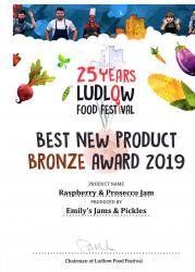 Emily's Jam and Pickles - Award